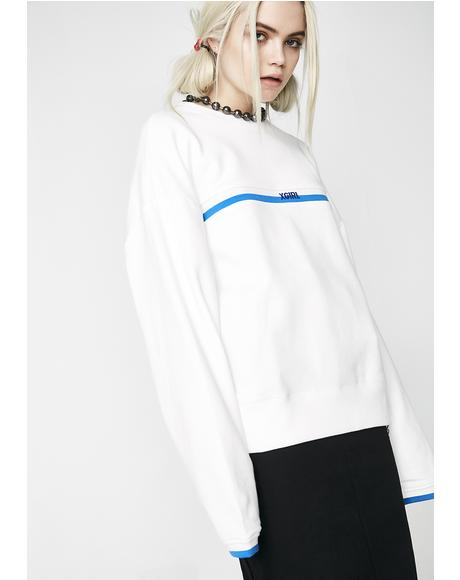 Lined Ribbed Sweatshirt