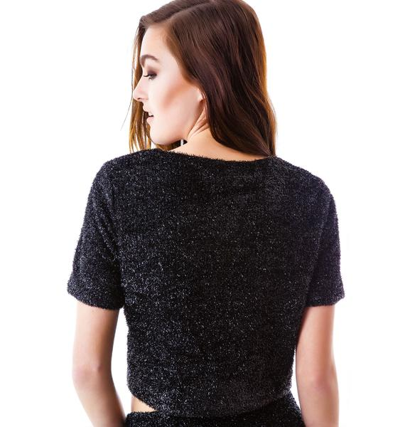Amber Fuzzy Cropped Sweater