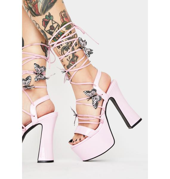 Sugar Thrillz Sugar Pixie Queen Lace Up Heels