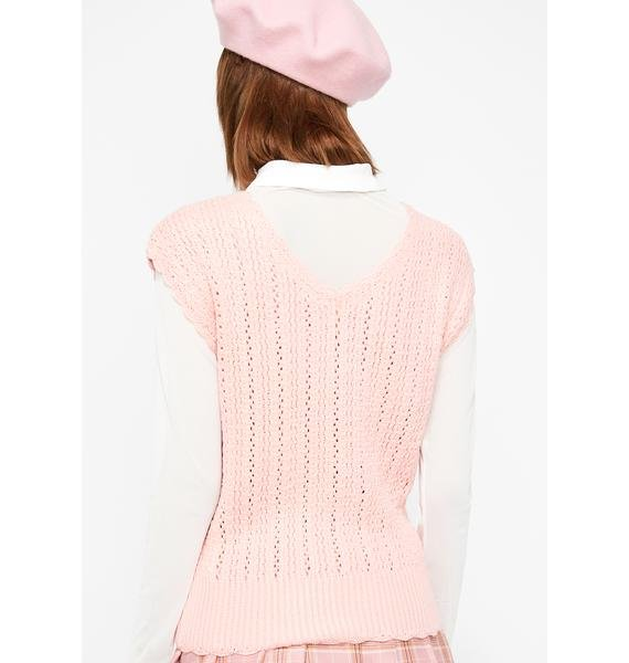 Petty Princess Crochet Sweater