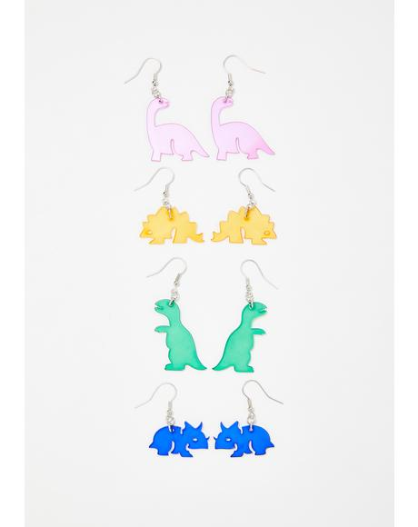 Dino Diva Earring Set