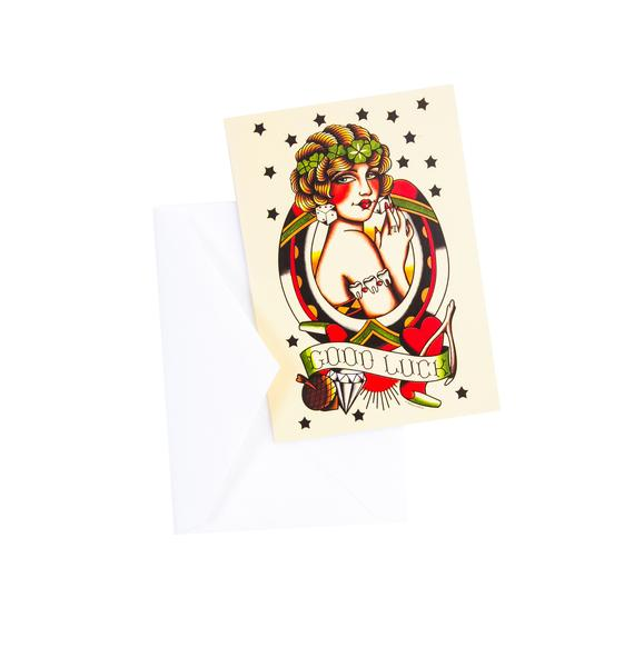 Sourpuss Clothing Good Luck Card