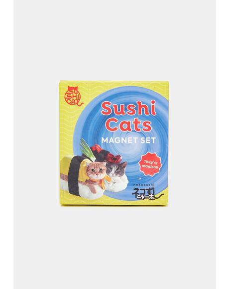 Sushi Cats Magnets Set