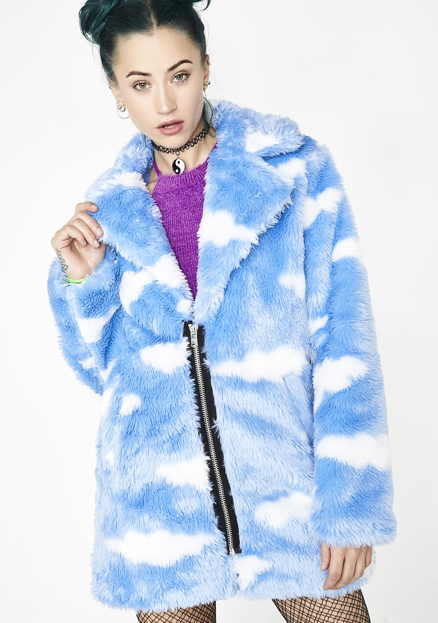 665cfa6a6e Current Mood Daydream Delirium Faux Fur Jacket