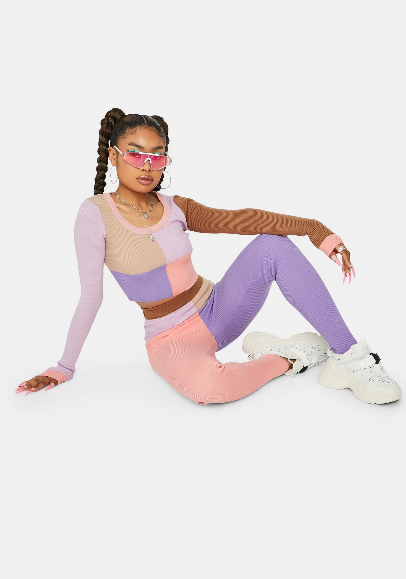 Love To See It Colorblock Pant Set