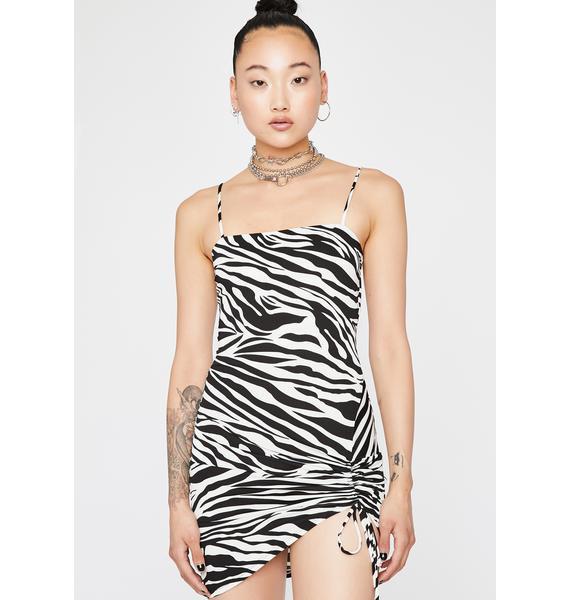 Wild For Life Zebra Dress
