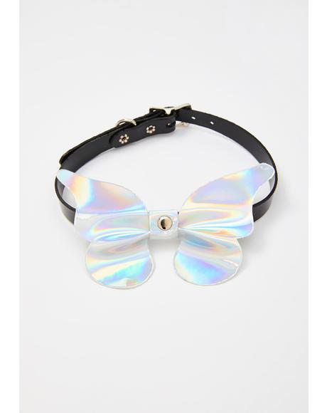 Icy Technicolor Faerie Holographic Choker