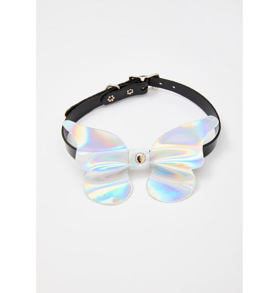Funk Plus Icy Technicolor Faerie Holographic Choker