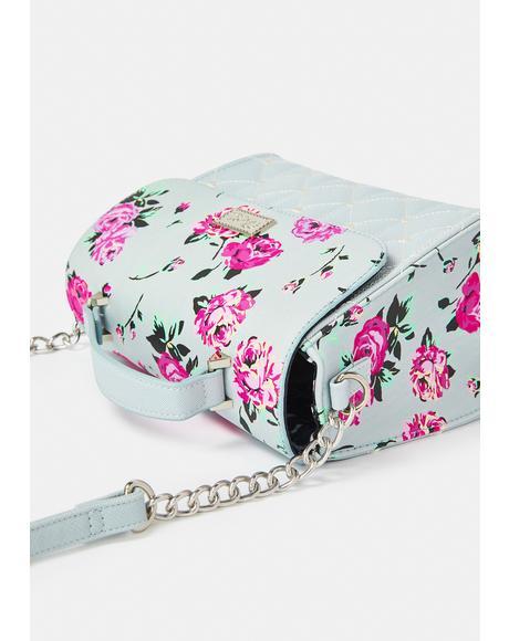 Roses Foldover Crossbody Bag