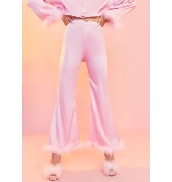 Sugar Thrillz Lover's Quarrel Satin Pajama Bottoms