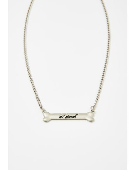 'Til Death Bone Necklace