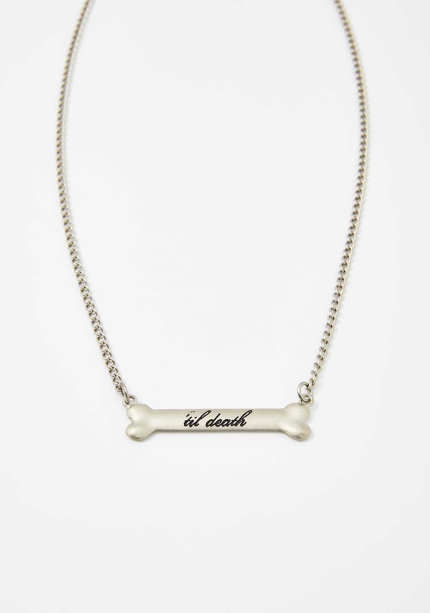 Rock Rebel 'Til Death Bone Necklace