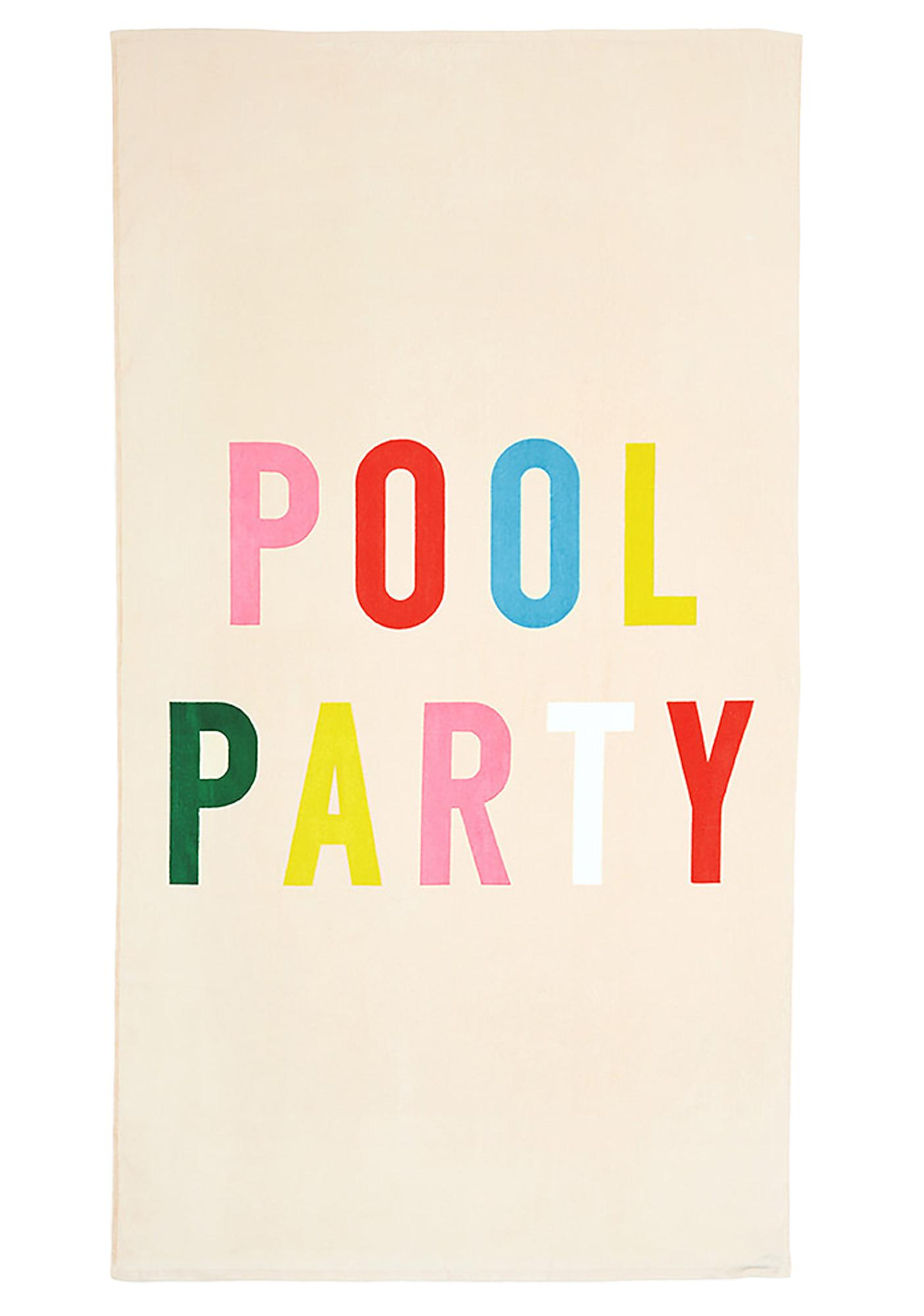 Poolside Perfection Giant Beach Towel