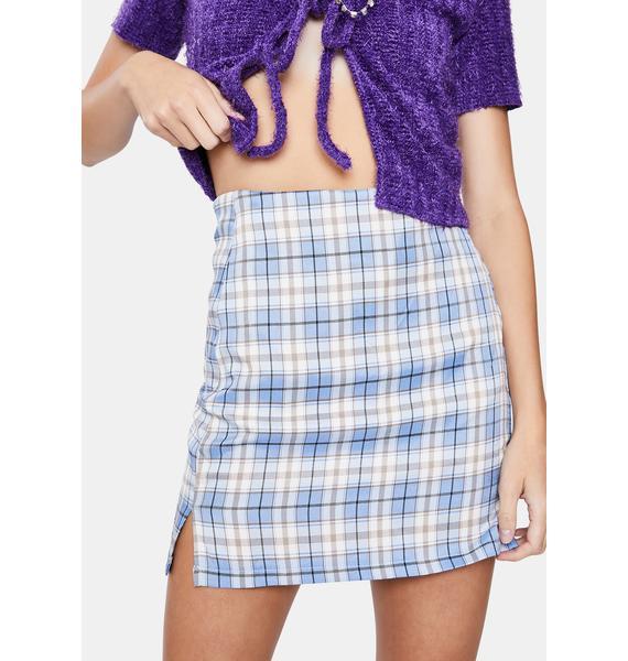 ZEMETA Plaid Wall Mini Skirt