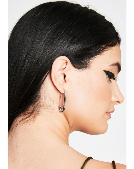 Danger Flirt Safety Pin Earrings