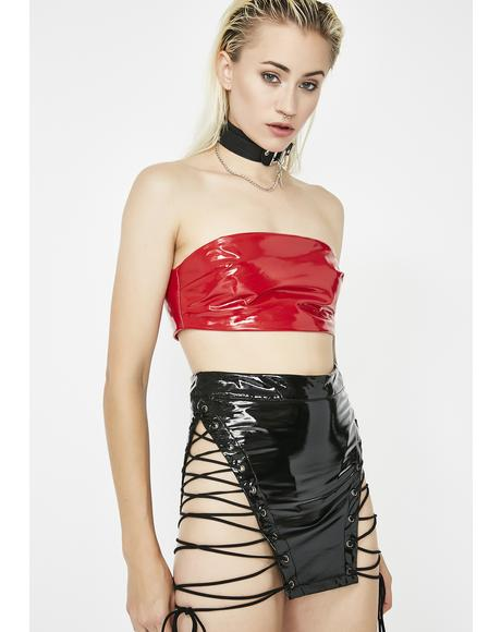 Risky Bidness PVC Skirt