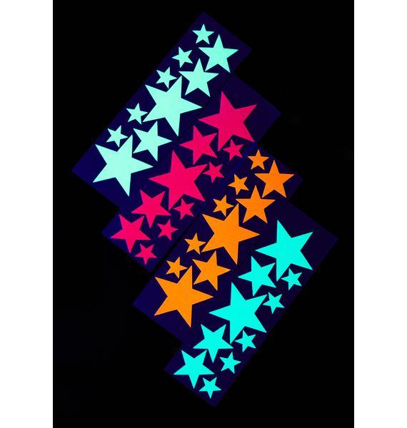Sasswear Black Star Body Stickers