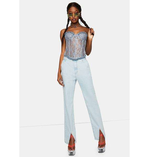 Lioness The Dusty Blue Plaza Bustier