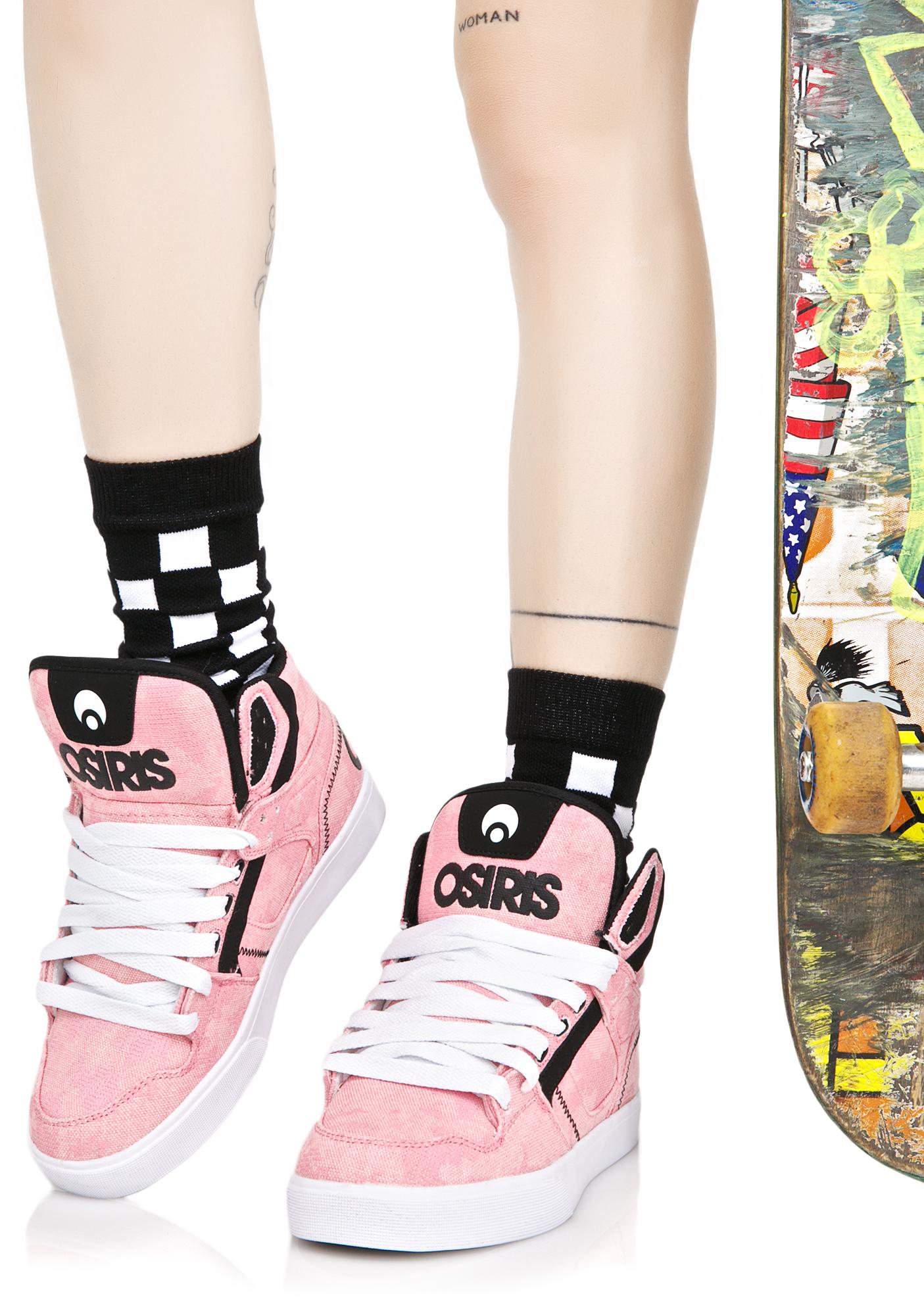Osiris Pink Clone Sneakers