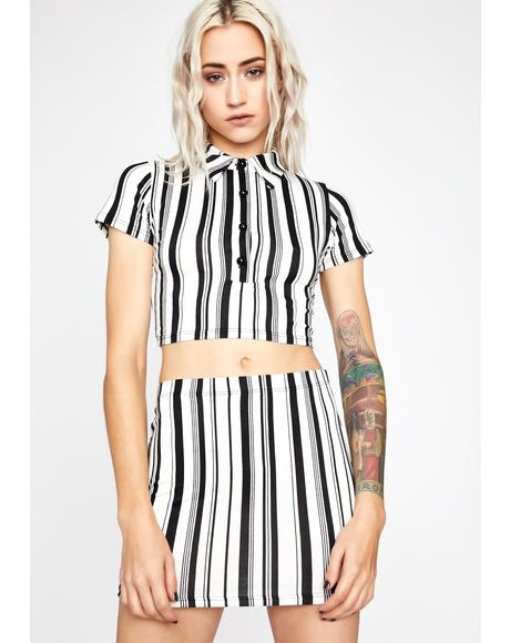 Icy Bloodline Banger Skirt Set