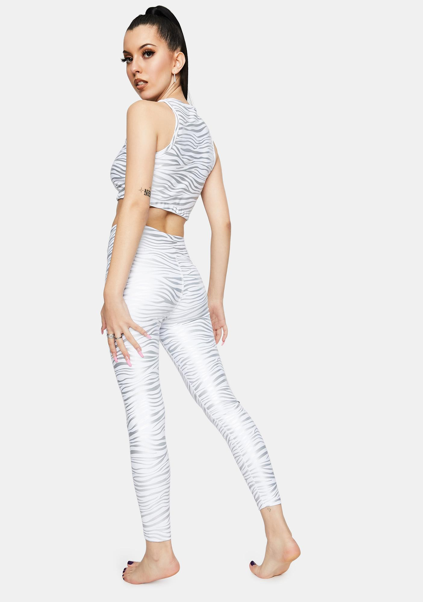 Year Of Ours Tiger Foil Veronica Leggings