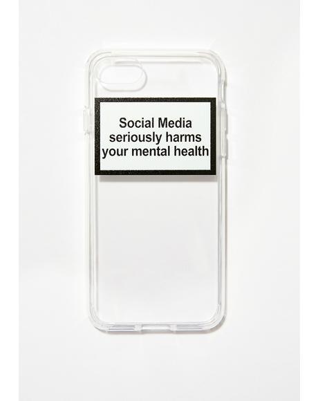 Mental Health Warning iPhone Case