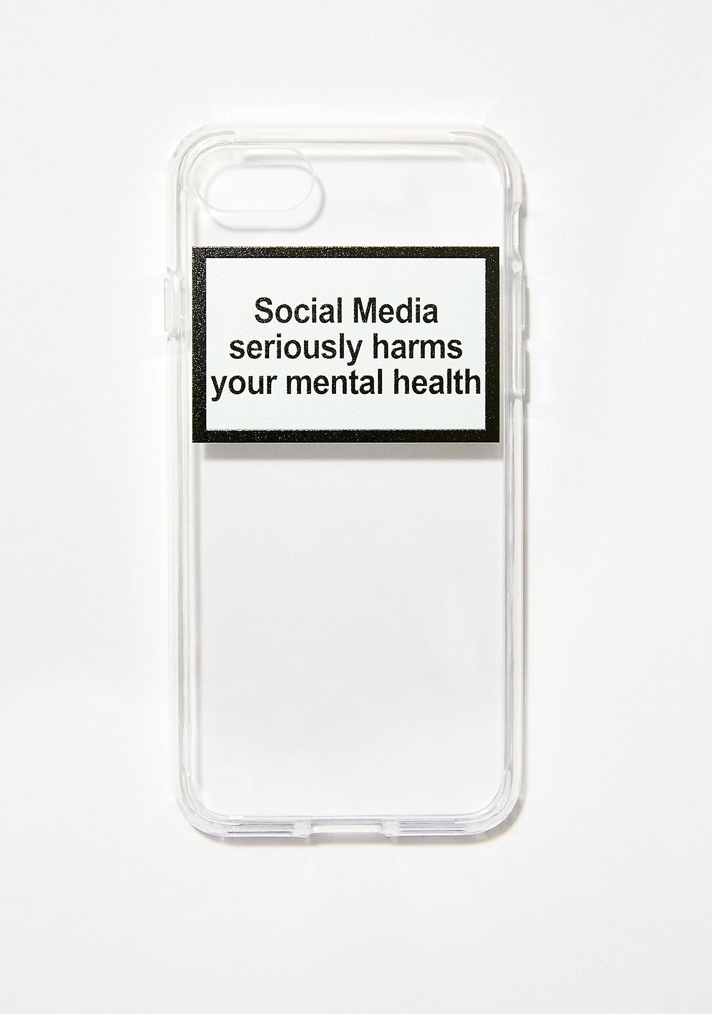 Urban Sophistication Mental Health Warning iPhone Case