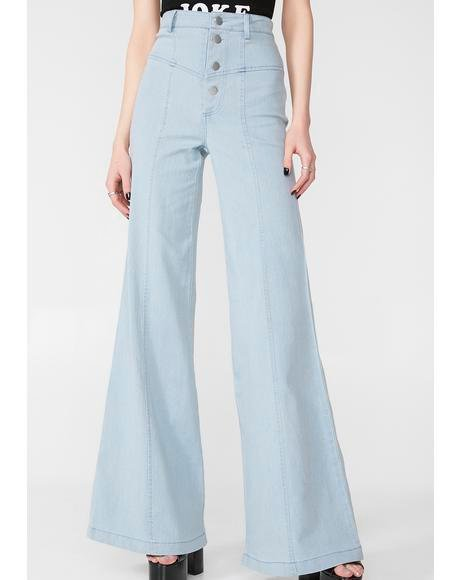 Take You Higher Denim Flares
