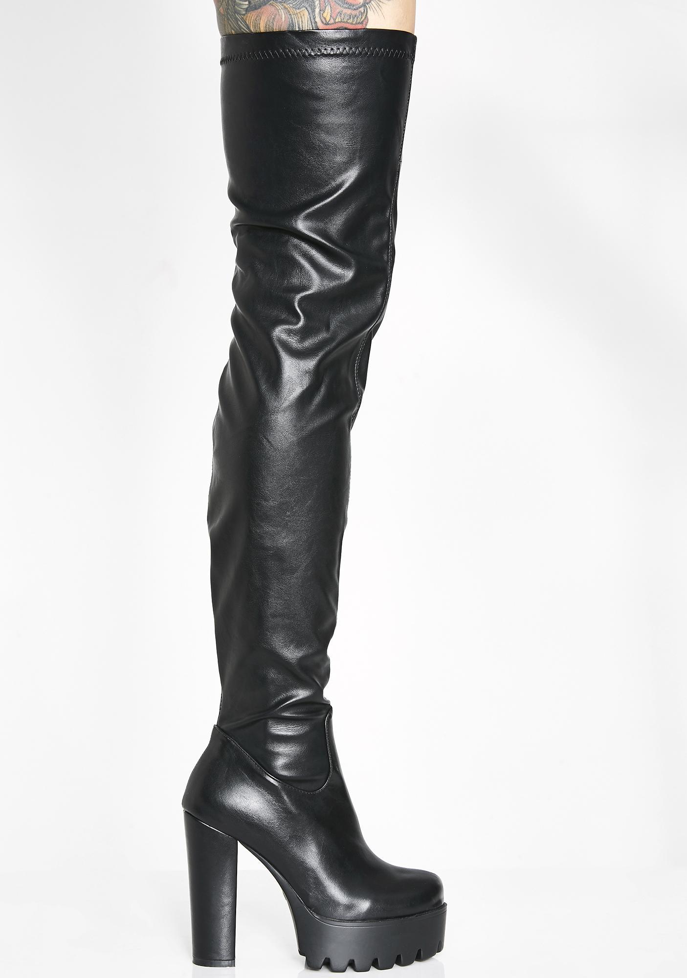 Lamoda Take You Down Thigh High Boots