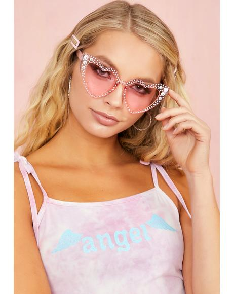 SoCal Romance Rhinestone Sunglasses