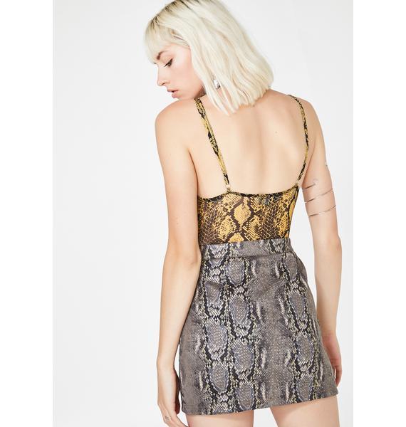 Vile Couture Snakeskin Skirt