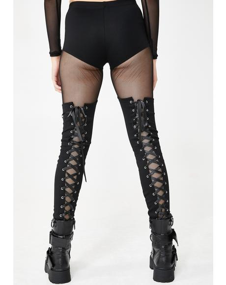 Immortal Revolution Lace-Up Leggings