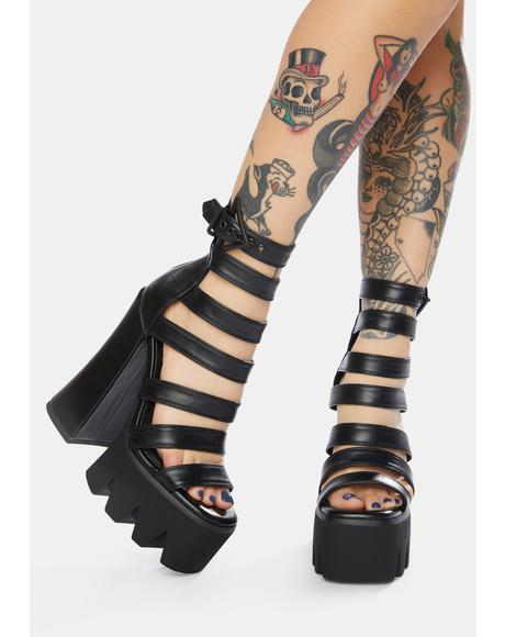 Back Off Chunky Platform Heels