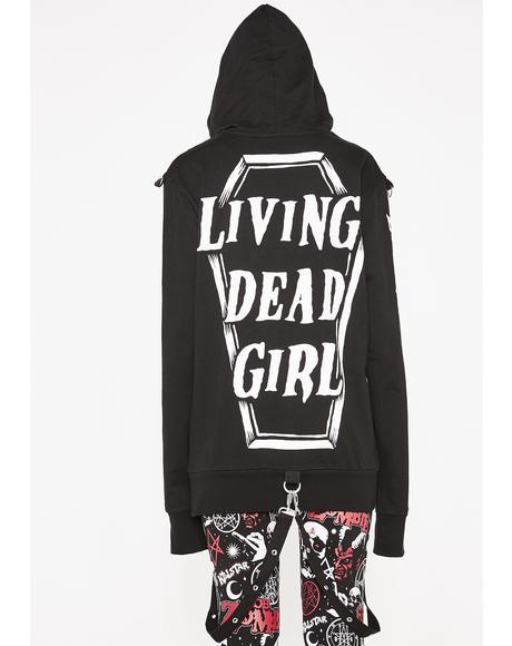 Living Dead Girl Bondage Hoodie