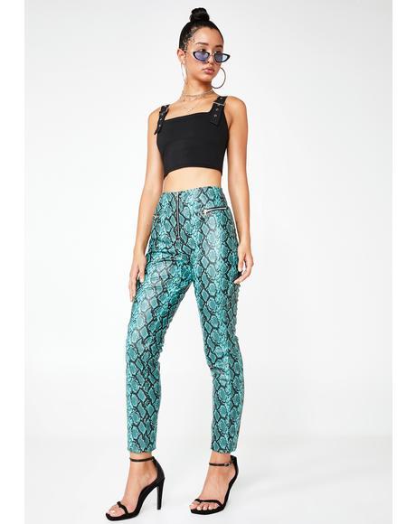 Pearl Snakeskin Pants
