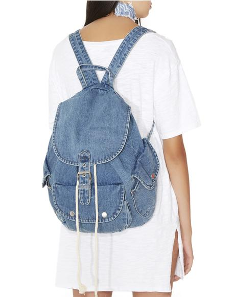 Mallrat Denim Backpack