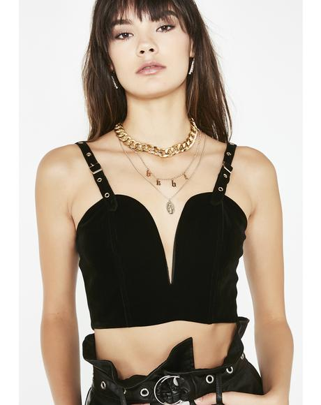 Cindy Velvet Crop Top