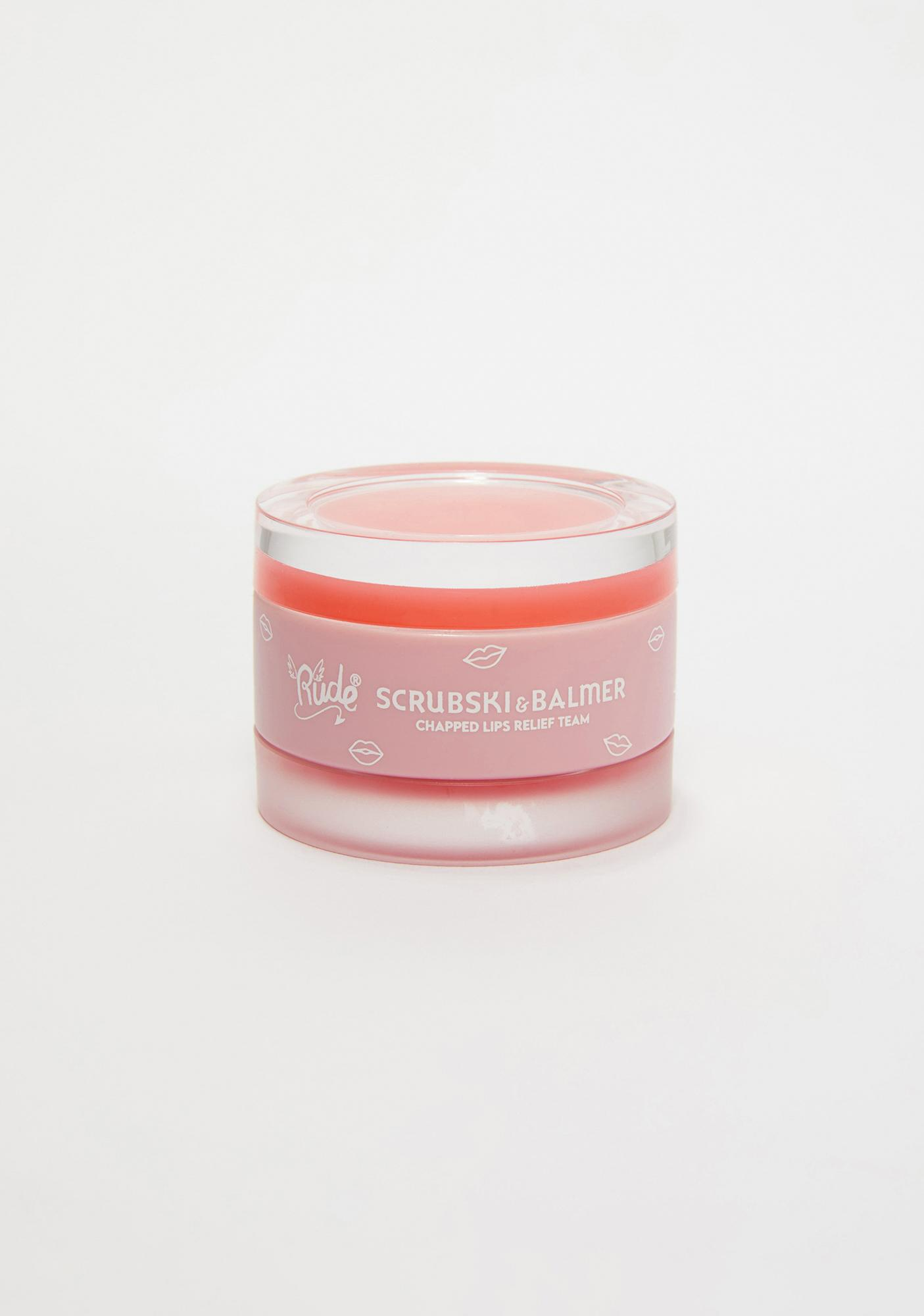 Rude Cosmetics Peach Scrubski & Balmer Lip Exfoliator