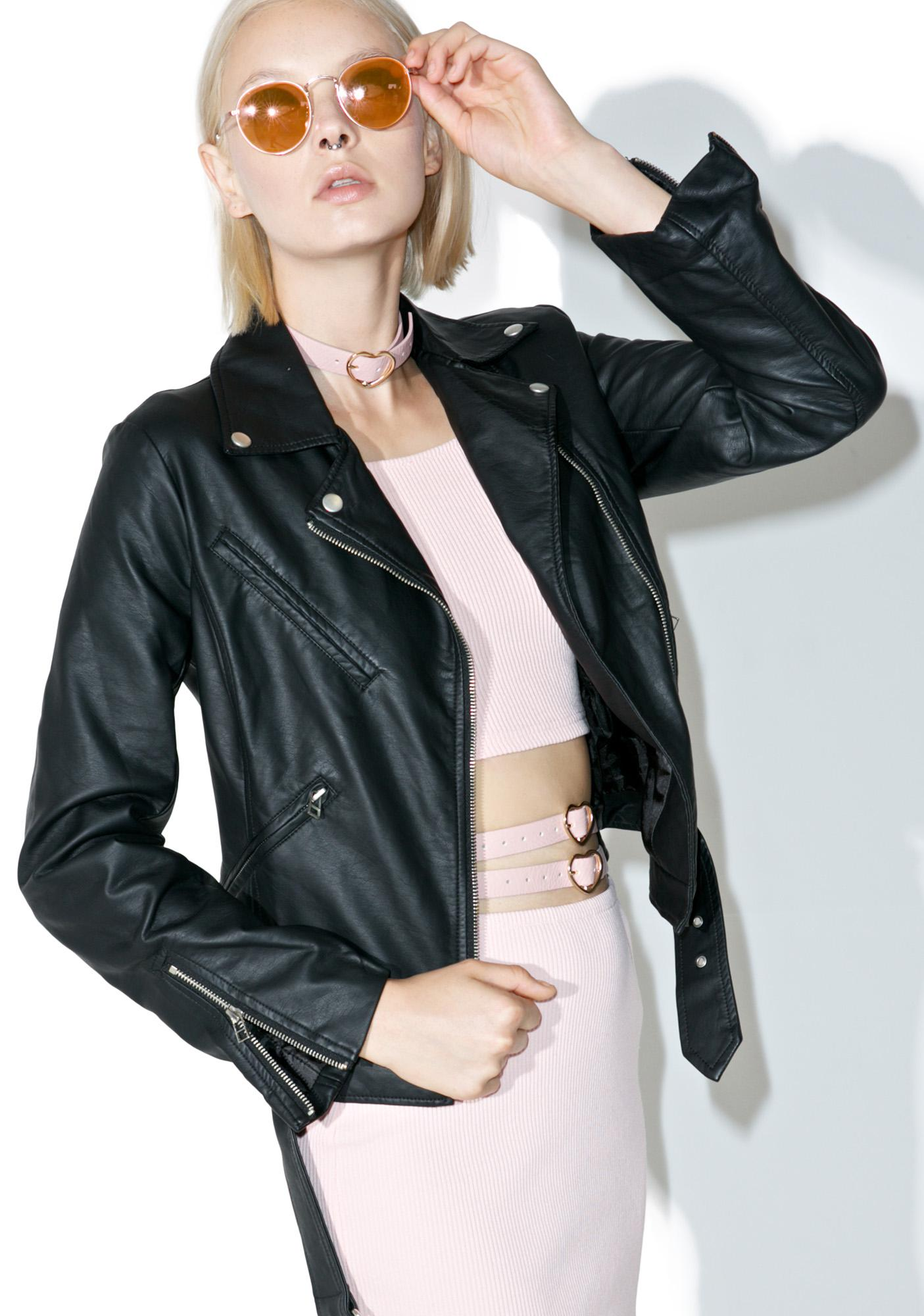Ex-Factor Cropped Moto Jacket