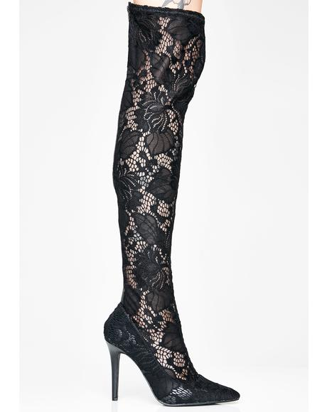 Widow's Kiss Thigh High Boots