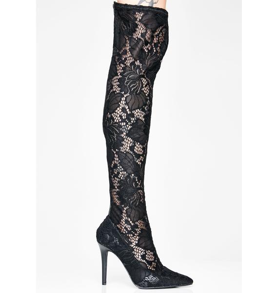 Widow's Kiss Thigh High Boots