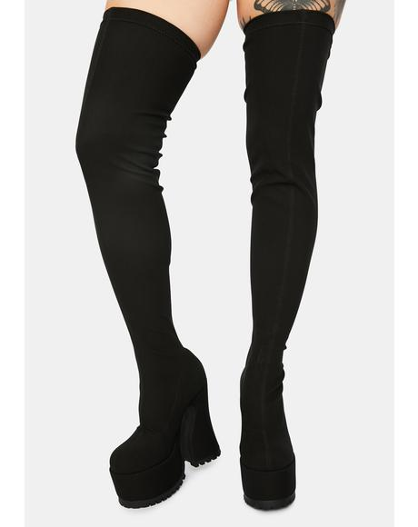 Dame Of Desire Thigh High Boots