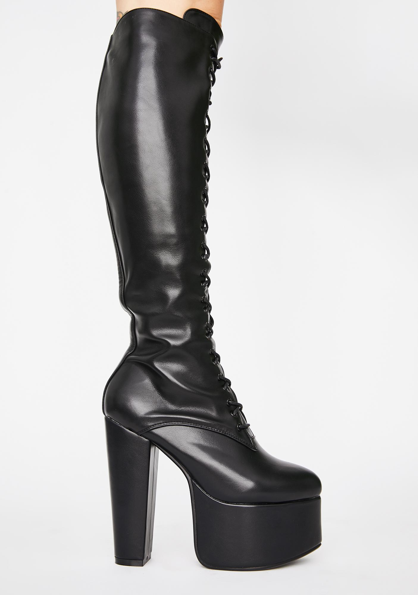 Lamoda Warnings Lace Up Boots