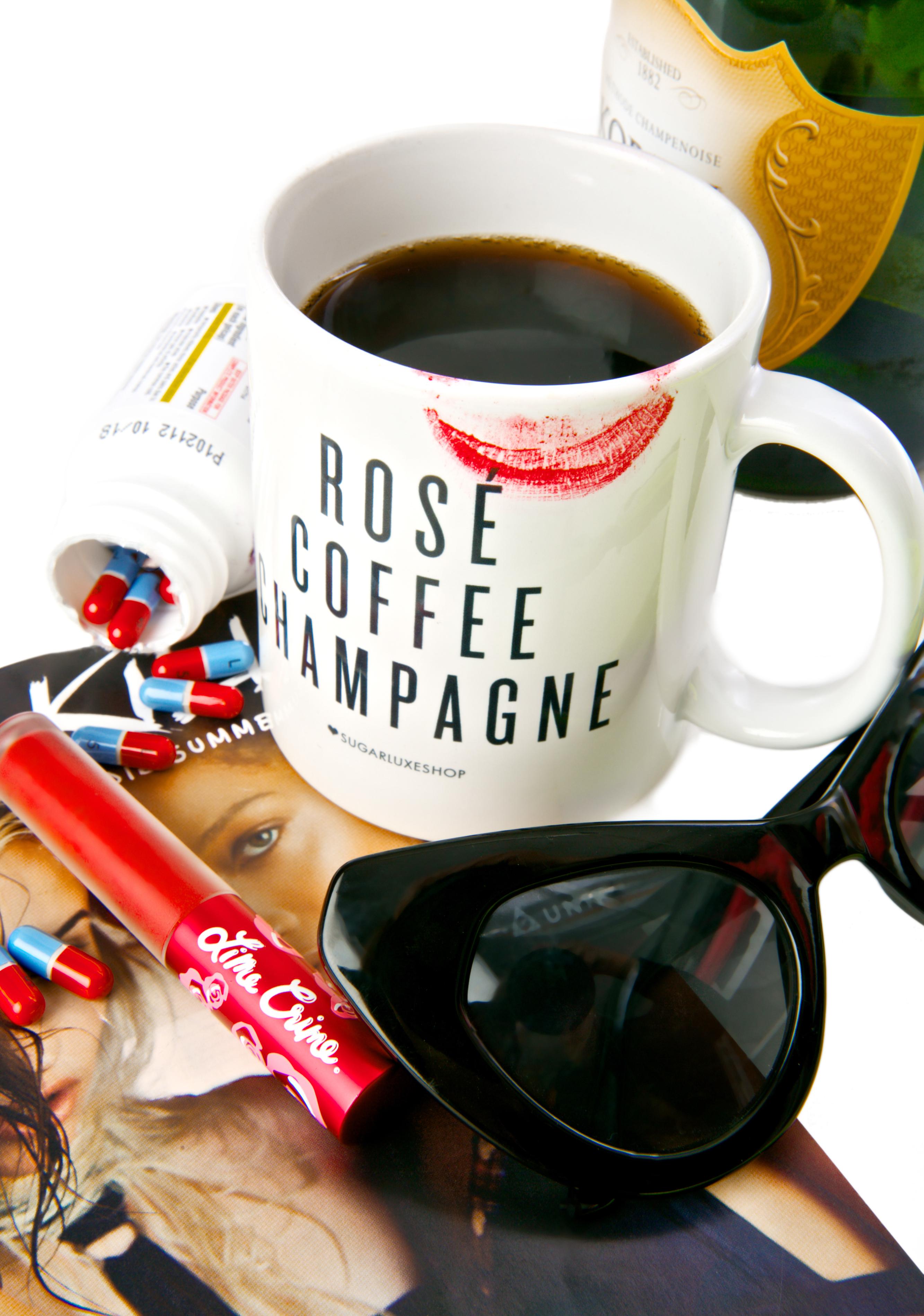 SugarLuxeShop Ros� Coffee Champagne Mug