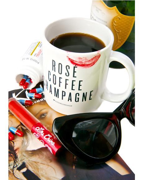Rosé Coffee Champagne Mug