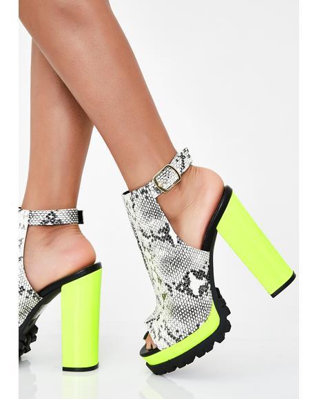 Am I Trippin Chunky Heels