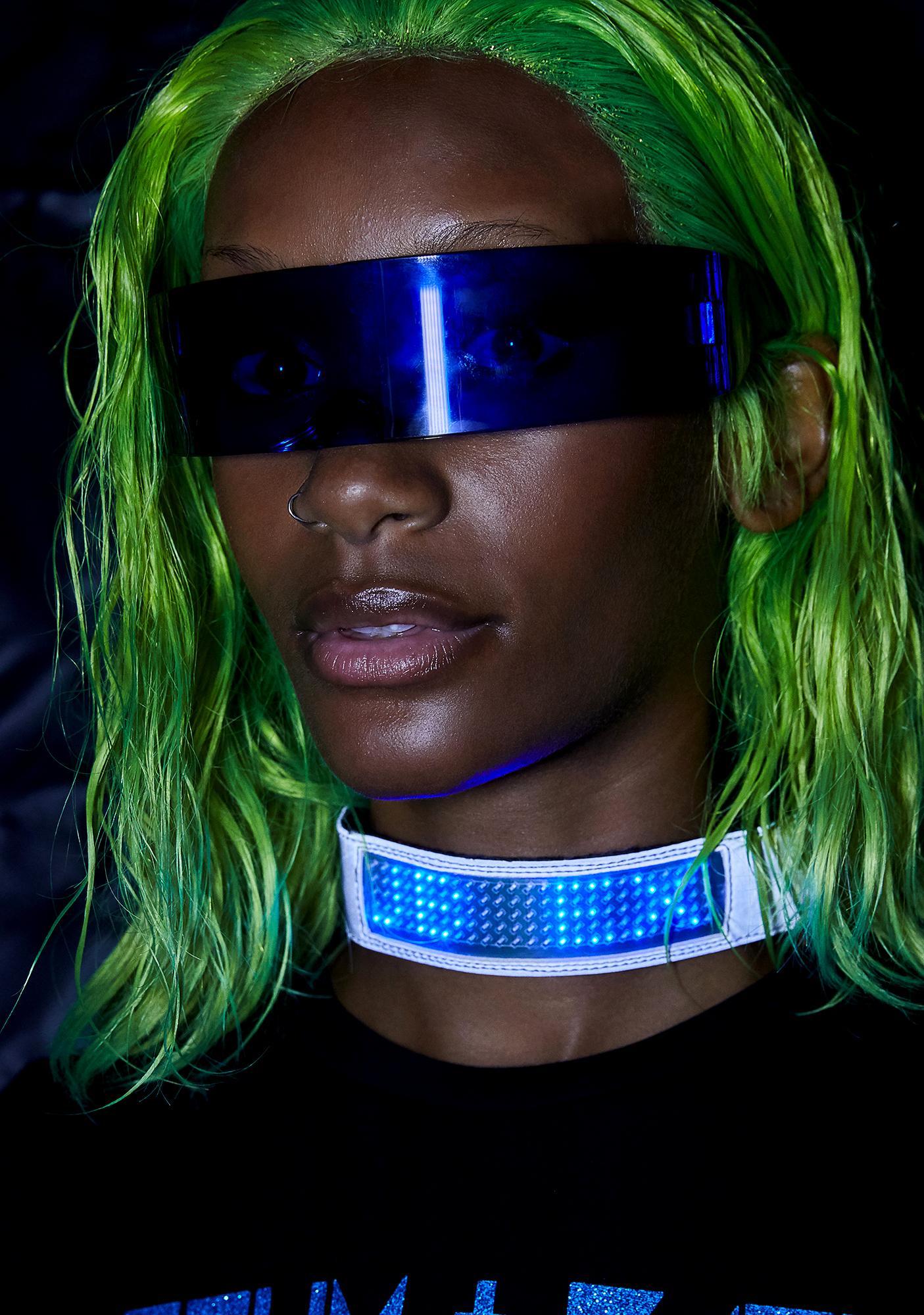 Club Exx Chrome Beamed Up Baddie Light-Up Choker