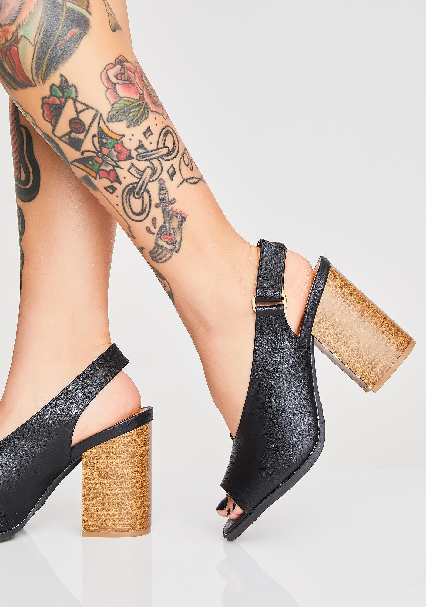 Save The Drama Slingback Heels