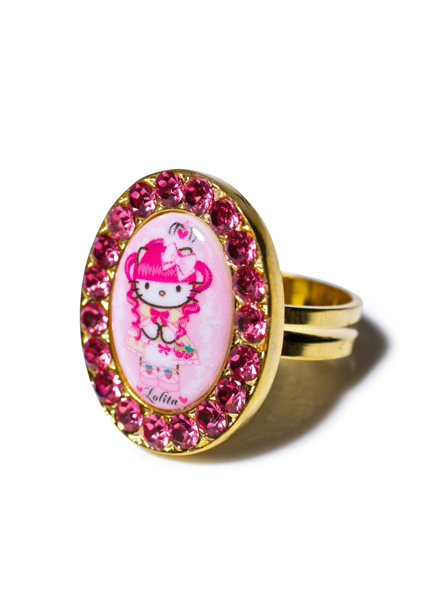 Tarina Tarantino Crystal Framed Gothic Lolita Head Ring