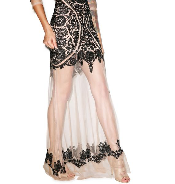 For Love & Lemons Lotus Maxi Dress